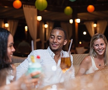 Drinks with friends, Barbados