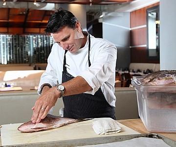 Chef at work in Florida Restaurtant