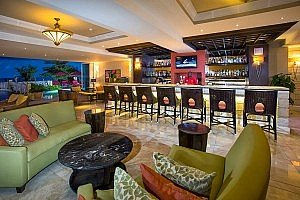 Interior Hotel Photography of the lobby bar at Ocean Two Hotel in Barbados