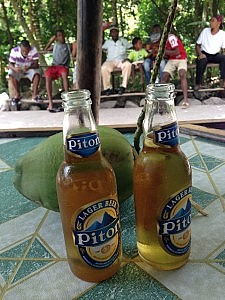 Piton Beer at the bottom of Gros Piton