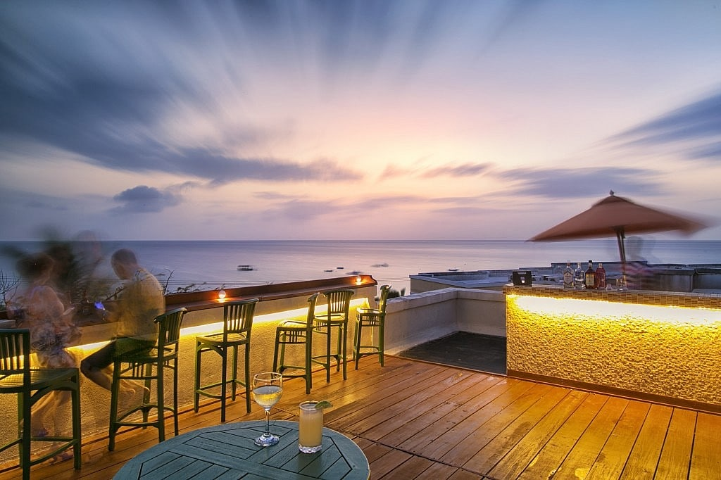 Sunset Bar at Beach View Barbados during our recent Hotel Photography Shoot