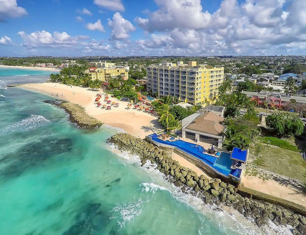 Hotel Photography from a drone of Barbados