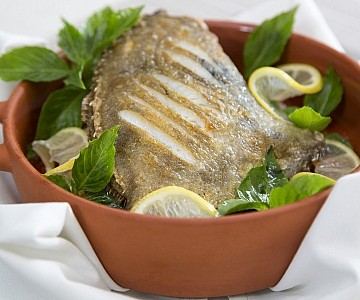 Fresh caught fish cooked by a private chef in the Caribbean, food photography