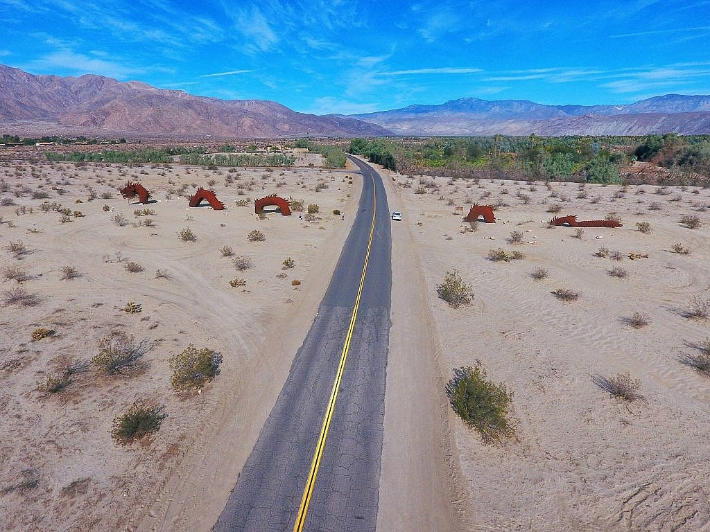 Drone Photography of Ricardo Breceda's Borrego Springs Sand Serpent