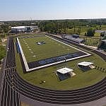 Drone Photography of The Masters Academy school football field
